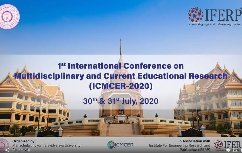 Virtual conference on Multidisciplinary & Current Educational Research – MCU Thailand
